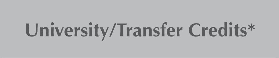 University / Transfer Credits
