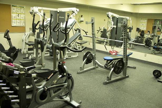 Fitness centre on campus