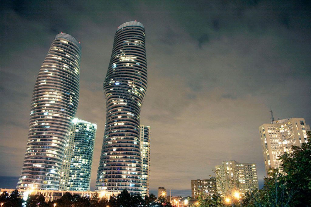 Mississauga at night time
